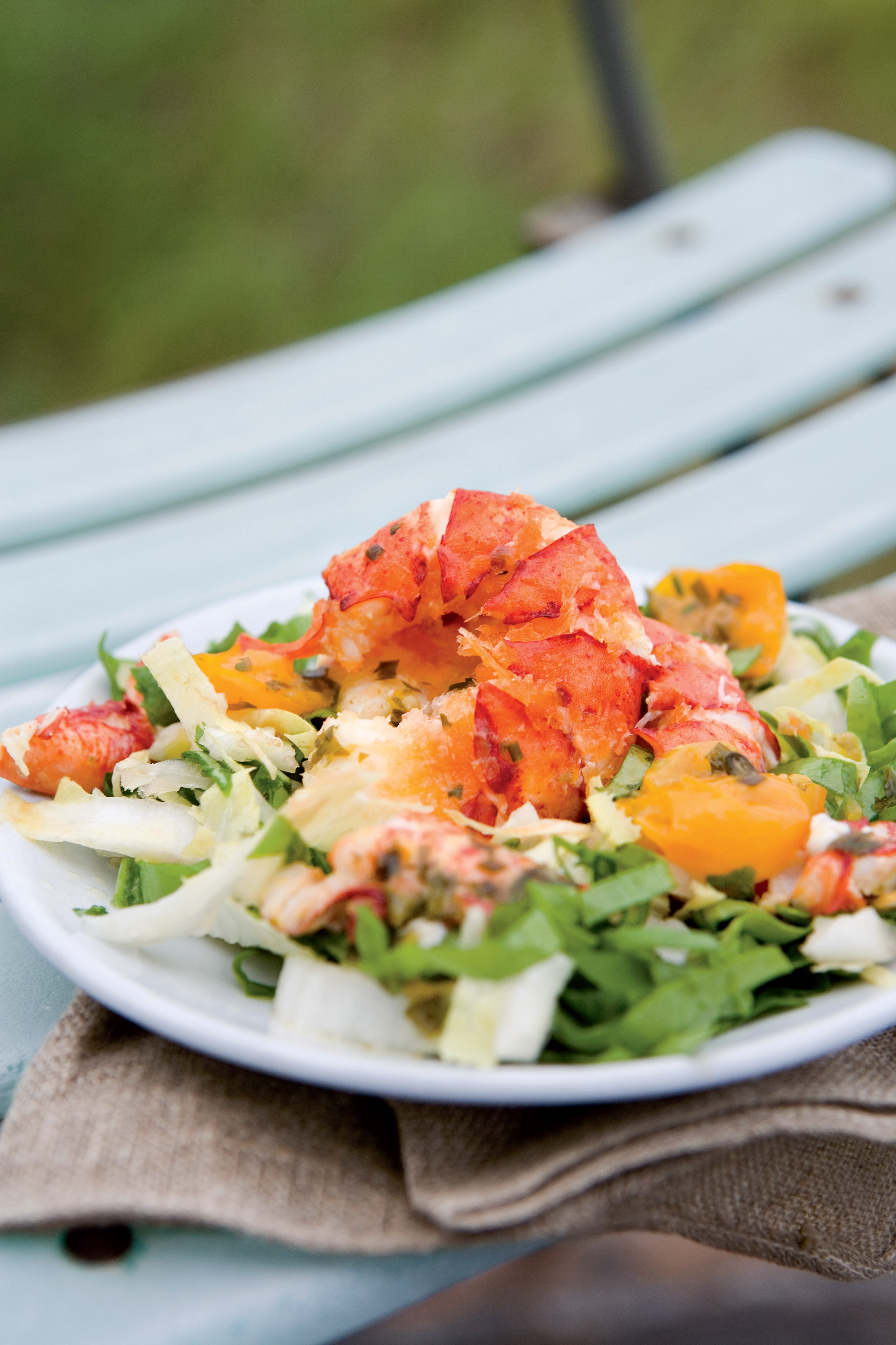 Crispy Lobster-Tail and Pea-Tendril Salad With Warmed Lobster Vinaigrette - New England Today