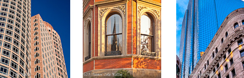 Victorian brownstones in Back Bay, Boston, MA