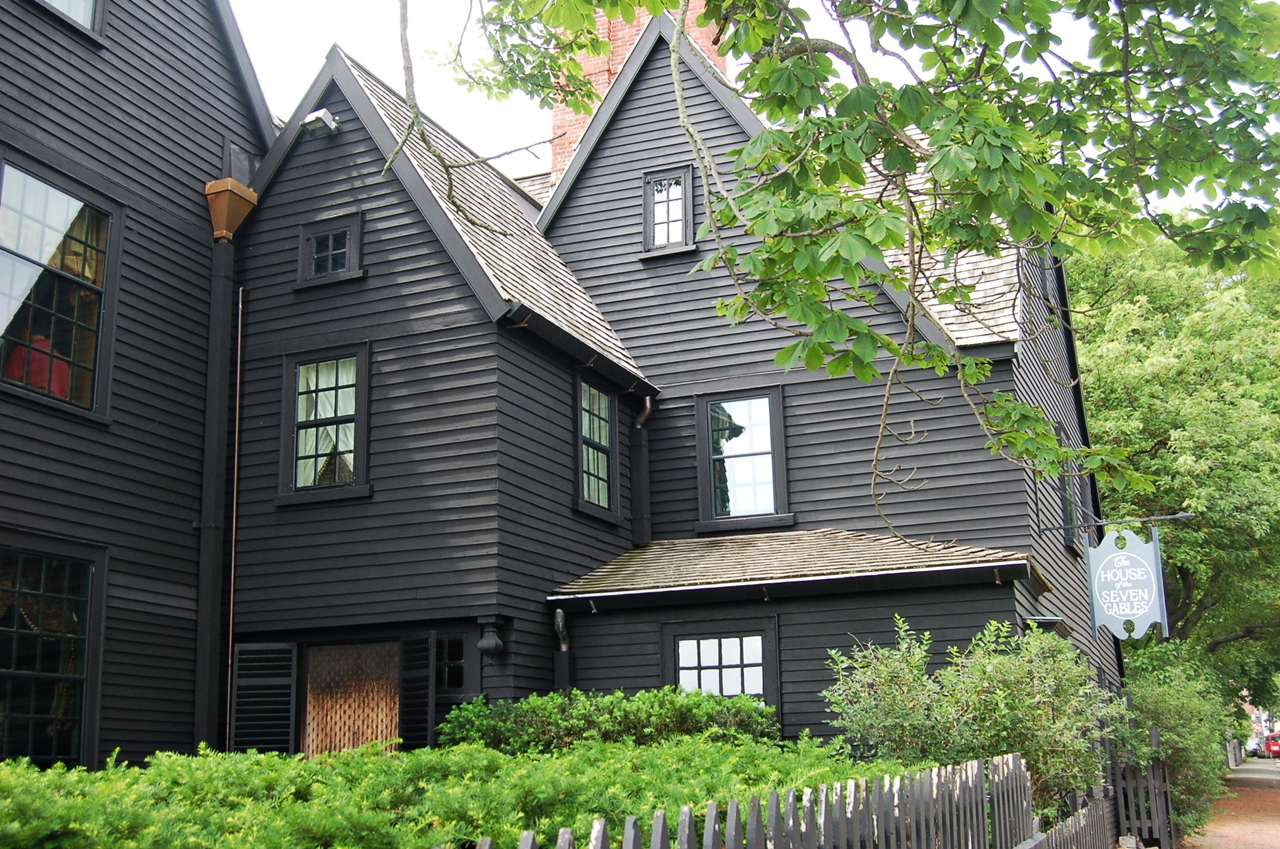 Houses Roof House Of The Seven Gables In Salem Massachusetts