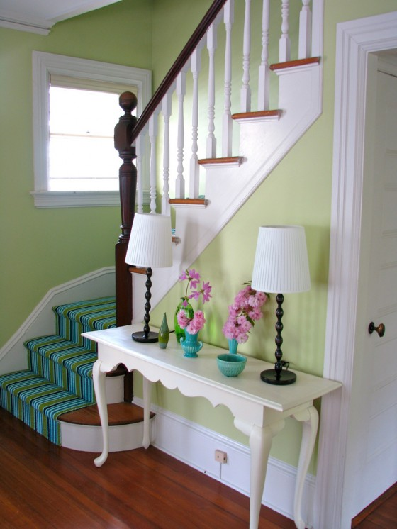 Stairs endure plenty of wear and tear- a rug pad will keep the runner from shifting under the heavy foot traffic.