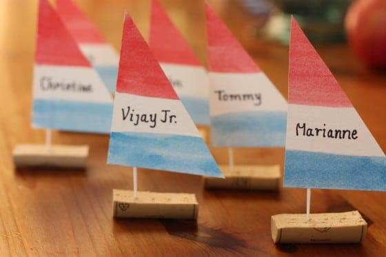 Make Cork Boat Place Cards