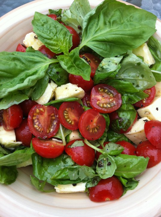 Cherry Tomatoes and Mozzaralla