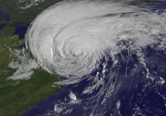 Satellite View of Tropical Storm Irene as it Enters New England
