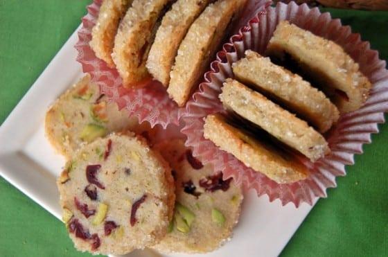 Pistachio Cranberry Icebox Cookies
