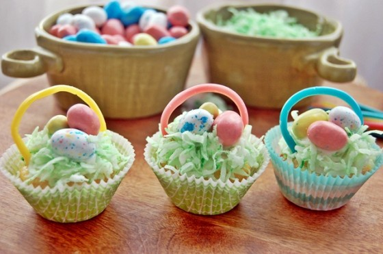 Best easter recipes easter basket cupcakes negle Images