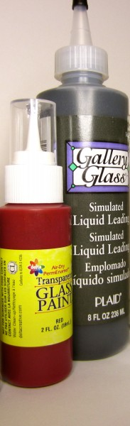 Glass paint and liquid leading