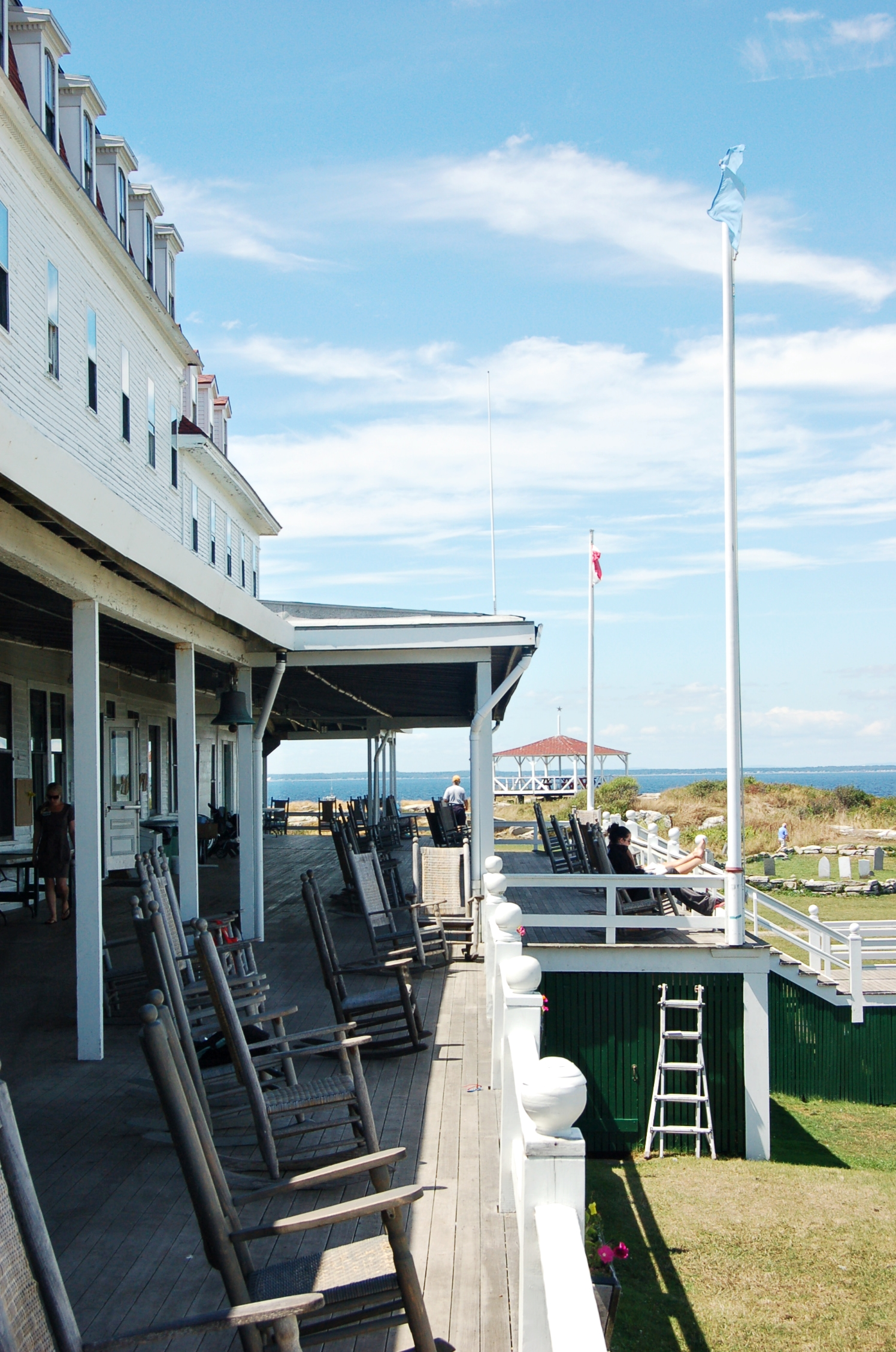 The famous Oceanic Hotel porch.