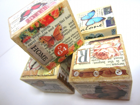 Decorative Collage Blocks