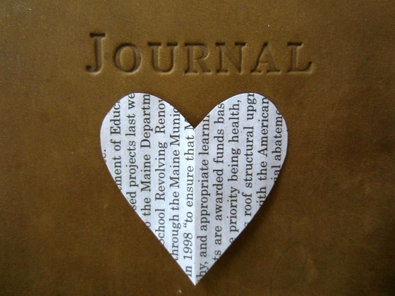 A newspaper heart