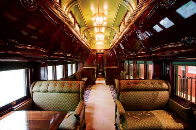 pullman car at hildene long journey home yankee magazine. Black Bedroom Furniture Sets. Home Design Ideas