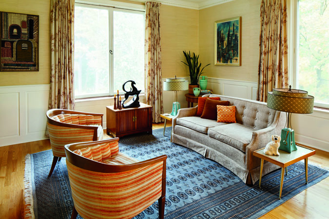 1950s home decor in lenox massachusetts house tour - 1950 s living room decorating ideas ...