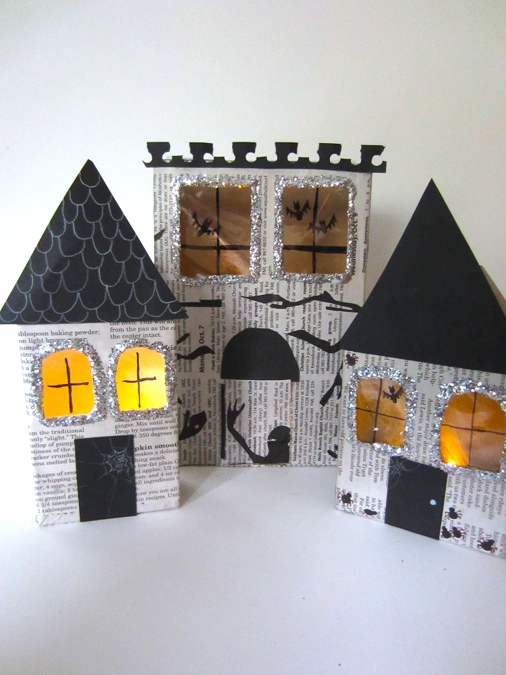 halloween crafts make haunted houses from recycled materials new
