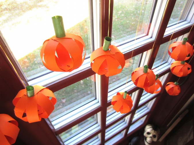 Paper Pumpkins Craft Decorate For Fall