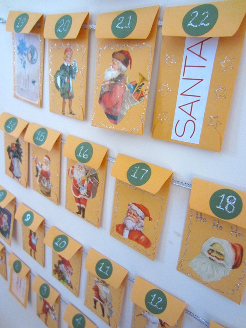 Advent Calendar Envelopes Ideas : Make an envelope advent calendar holiday crafts