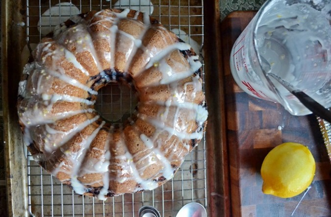 Blueberry Bundt Cake with Lemon Glaze