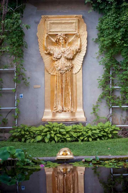 "Also in Cornish, among the treasures at the Saint-Gaudens National Historic Site is the ""New Gallery,"" featuring Amor Caritas, one of the sculptor's favorite angel motifs, in bronze, overlooking a Roman-style open-air atrium with reflecting pool and turtle fountains."