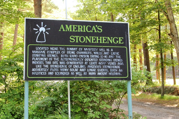 The sign provides some background information on America's Stonehenge.
