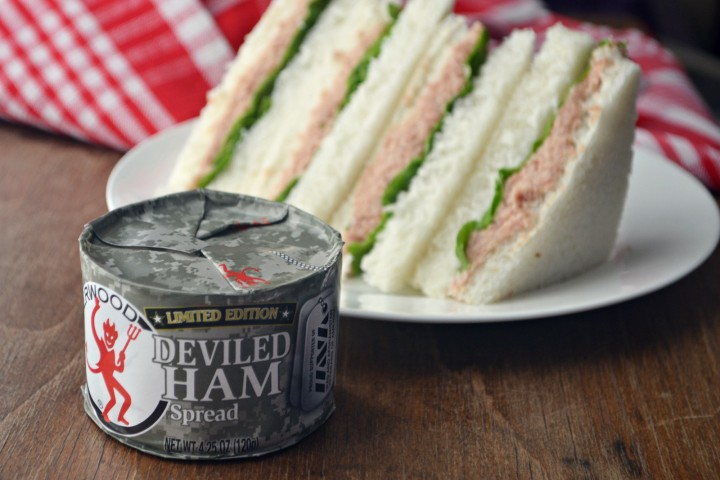 Underwood Deviled Ham sandwich