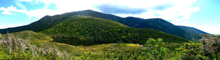 View of Franconia Ridge from Greenleaf Hut, en route to Mount Lafayette.