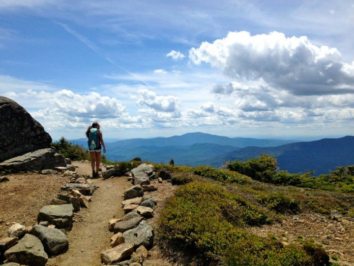 Author explores Franconia Ridge on a July day with clear views.