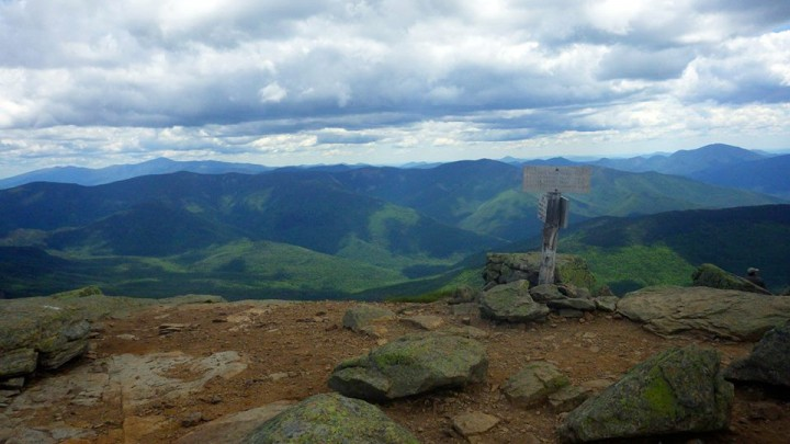 On a clear day hikers can see 360-degree views of the White Mountains from the top of Mount Lafayette, including views of Mount Washington and the rest of the Presidential Range.