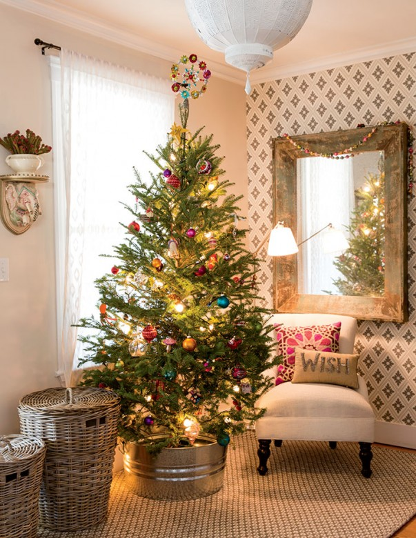 christmas home decor magazines an eclectic christmas in belmont massachusetts house 10578