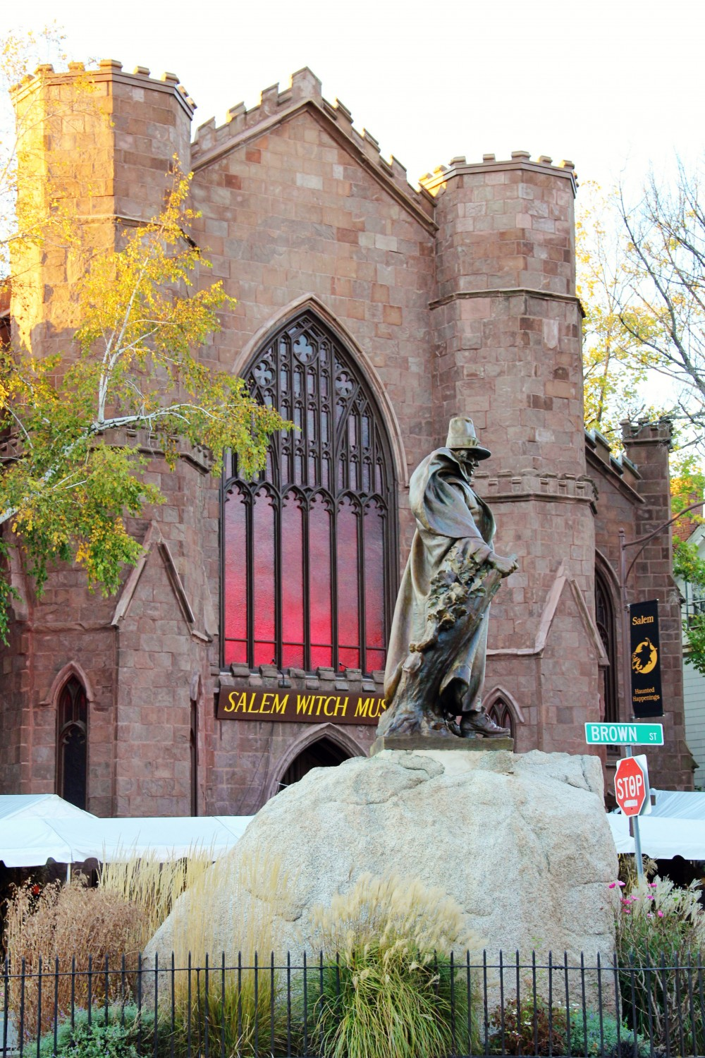 A statue of Roger Conant, the founder of Salem, in front of the Salem Witch Museum. For first time visitors to Salem, this museum will help make the witch trials comprehensible.