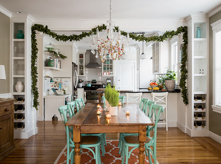 Exceptional The Dining Room Chandelier With A Vintage Inspired Ornament Garland From  Her Belmont Store