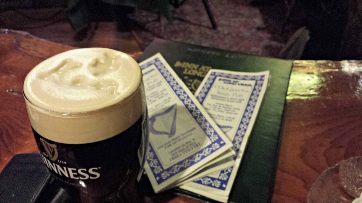 Enjoy a personalized Guinness while listening to live Irish music at McGath's Irish Pub.