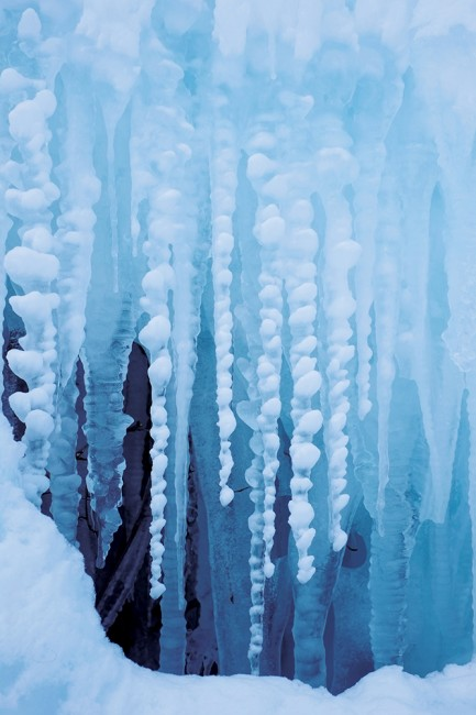 Glacial blue icicles.