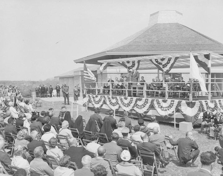 The Cape Cod National Seashore was officially dedicated on Memorial Day weekend in 1966. Attendees included Secretary of the Interior, Stewart Udall, and Massachusetts Senator, Ted Kennedy, whose late brother, President John F. Kennedy, was one of the driving forces behind the Seashore's creation.