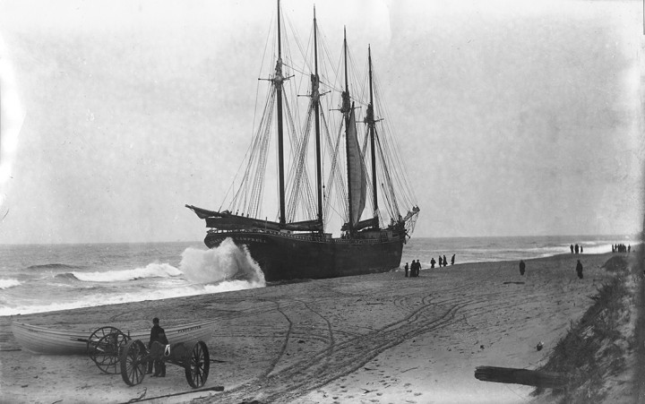 In 1895, the schooner Charles A. Campbell was stranded on the beach in Truro after losing course in thick fog. Before the first Cape Cod Canal was built in 1914, the waters off the Cape claimed more than 3,000 ships.