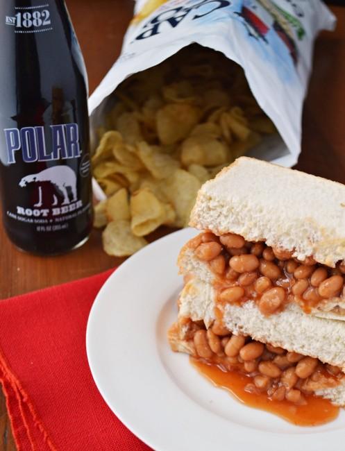 Baked Bean Sandwich Cape Cod Chips