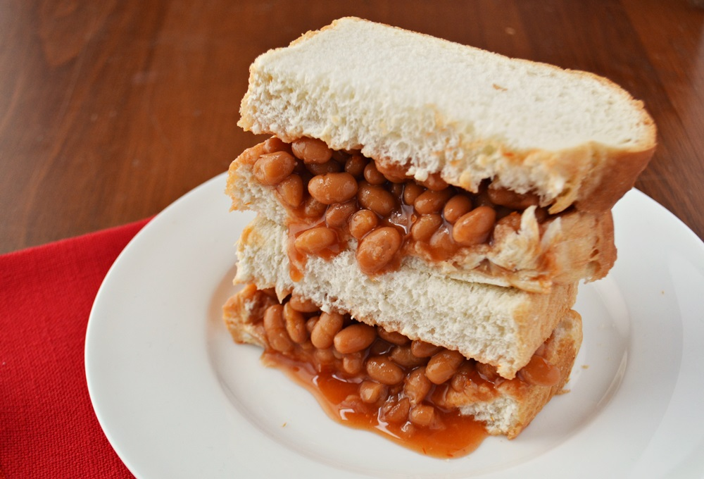 New England Baked Bean Sandwich.