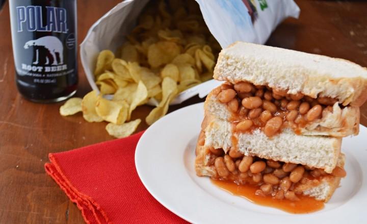 new england baked bean sandwich