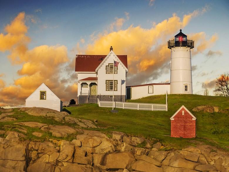 Cape Neddick Light on Nubble Island in Maine.
