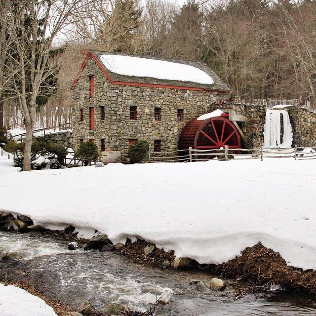Wayside Inn Grist Mill in Sudbury, Massachusetts.
