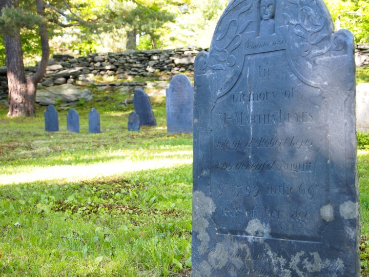 Old Meetinghouse Hill Cemetery in Princeton, Massachusetts.