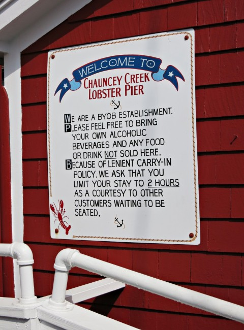 Chauncey Creek Lobster Pier in Kittery Point, Maine BYOB