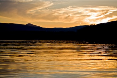 Setting Sun Spotlights Solitary >> Landscape Archives New England Today