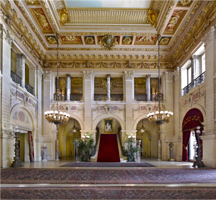 The 2 1/2 story Great Hall at The Breakers