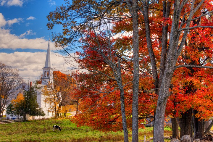 Prettiest Fall Foliage Villages In Vermont New England Today