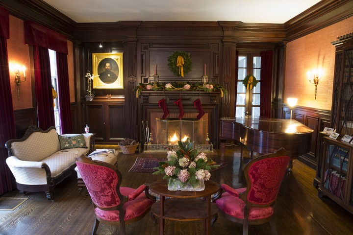 The Parlor Room Features Ornate Period Furnishings And One Of Eight Fireplaces At Hildene