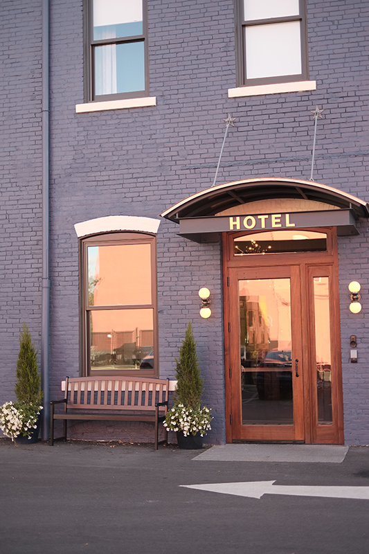 the inviting back entrance to hotel on north in pittsfield massachusetts