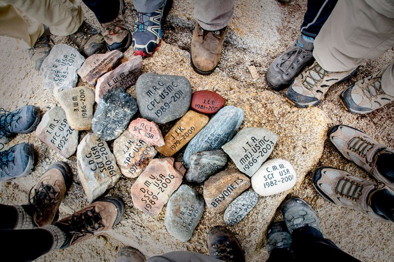 Dave Cote asks each family to select a stone from a place that was special to their loved one—a backyard, a favorite swimming hole, a treasured walking trail, a farmer's field.