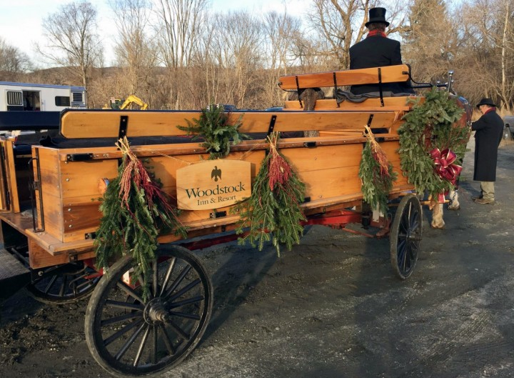 The Woodstock Inn wagon for the Wassail Parade.