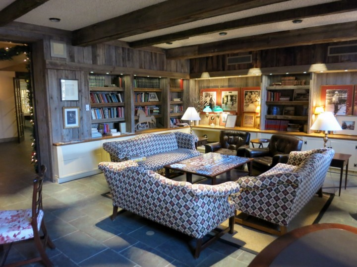 The Woodstock Inn library.
