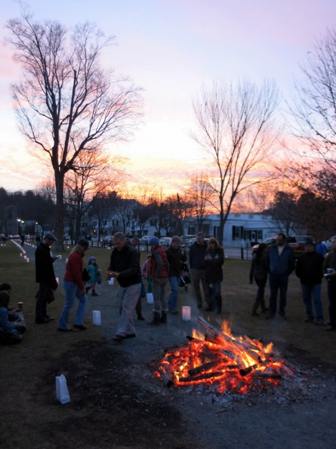 woodstock wassail weekend yule log