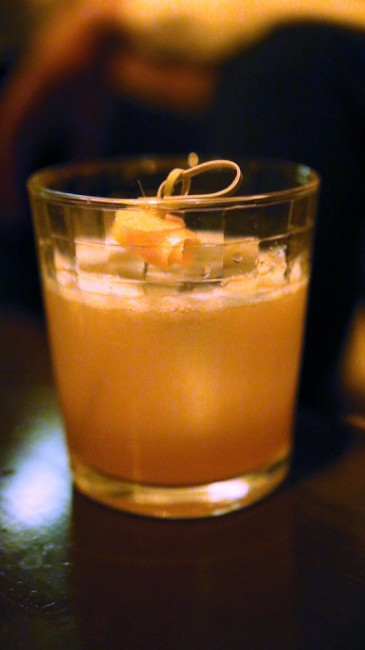 Derringer - Irish Whiskey, Falernum, Lemon, Carpano Antica. codex nashua speakeasy