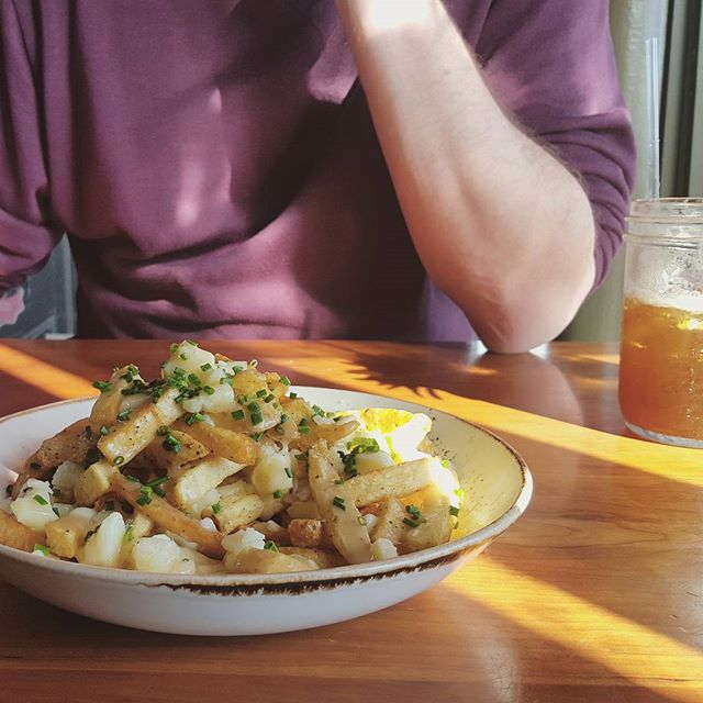 The famous poutine at Duckfat in Portland.